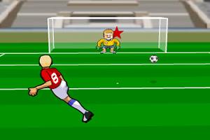 年代足球射门