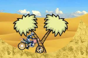沙漠骑摩托车