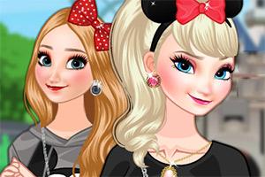 冰雪姐妹在迪士尼