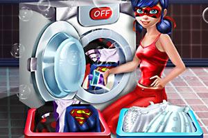 瓢虫女士洗衣服