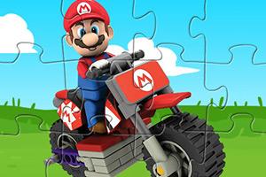 马里奥开摩托拼图