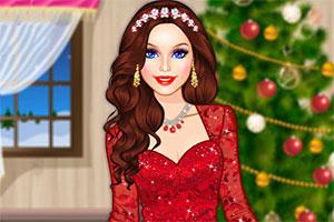 芭比的圣诞装扮