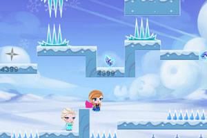 冰雪公主雪山冒险
