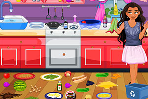 莫娜打扫厨房
