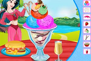 茉莉制作冰淇淋