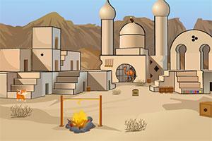 骆驼逃离沙漠